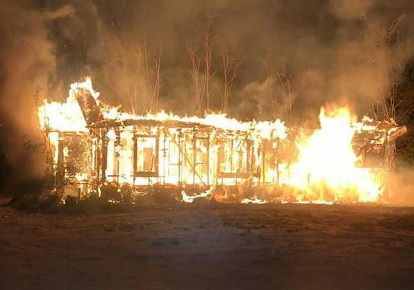 vacant house fire