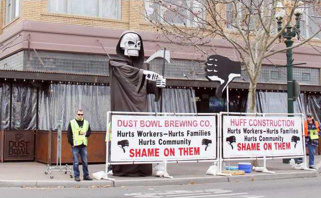 Dust Bowl protest pic