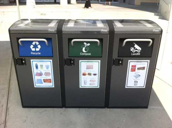 UC Merced Solar Trash Bins