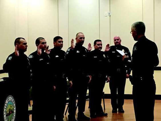 New police hires installed, three promoted - Ceres Courier