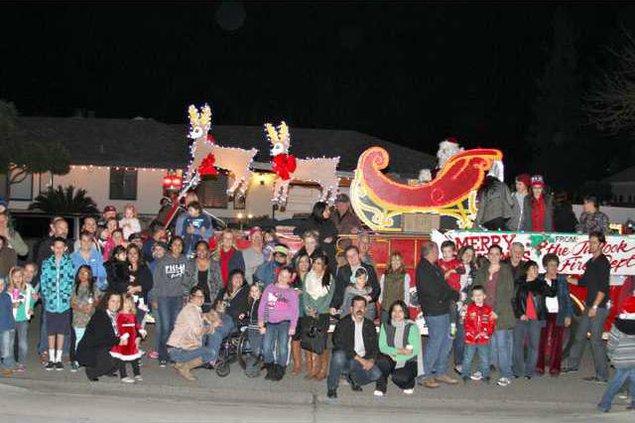 santa fire truck pic1