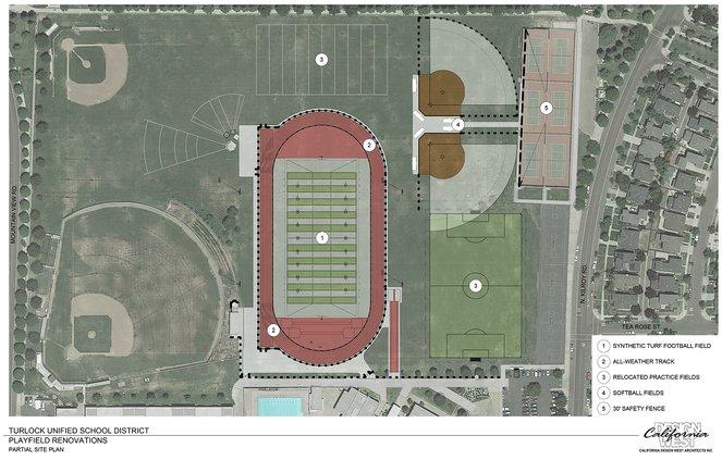 Pitman sports field plans