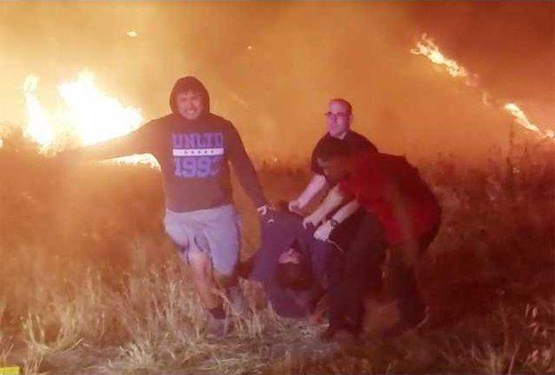 fiery crash pic