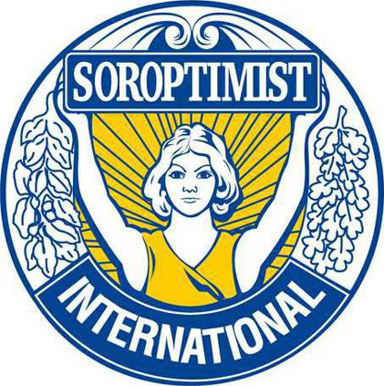 logo soroptimist blue-yellow on-white