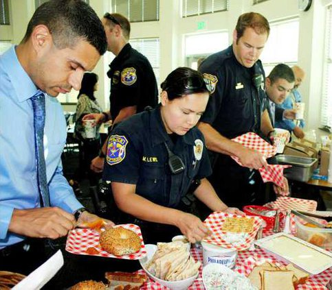 Police breakfast pic