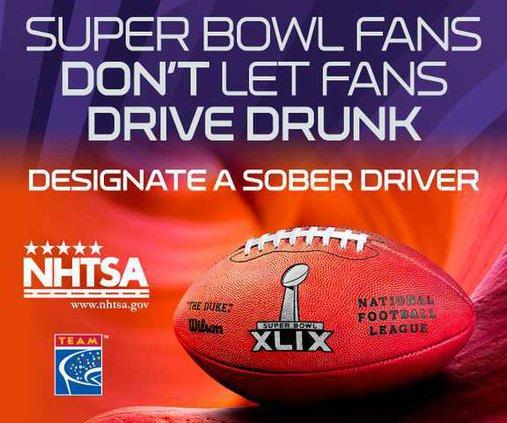 drunk driving super bowl logo