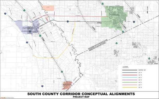 south county corridor map