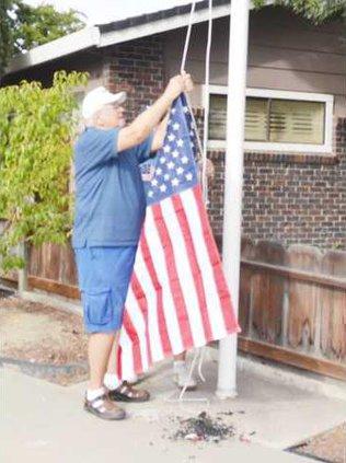 burnt flag pic1