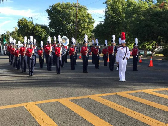 Turlock Christian marching band