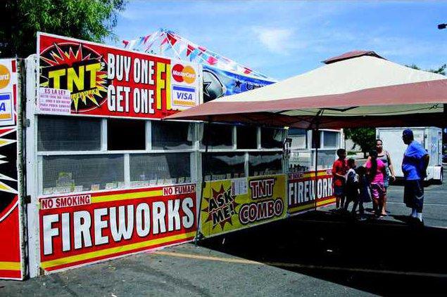 Fireworks front