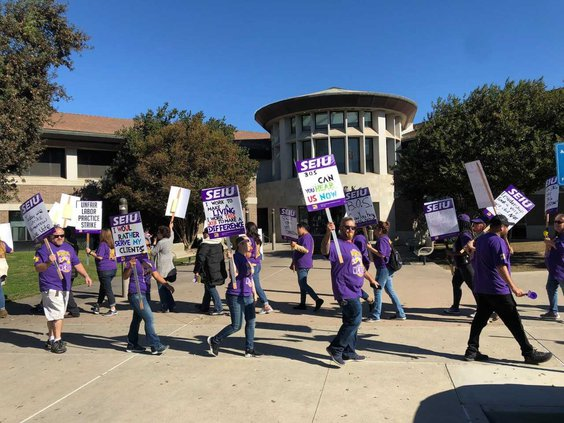 county workers strike