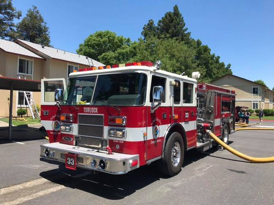 Turlock apartment fire