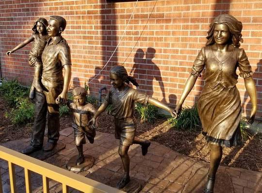 bronze statute