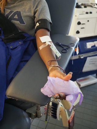 blood donor arm
