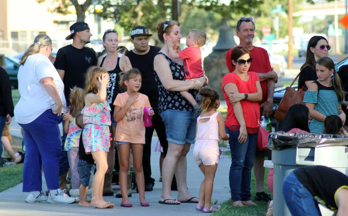 Ceres crowd for bounce house