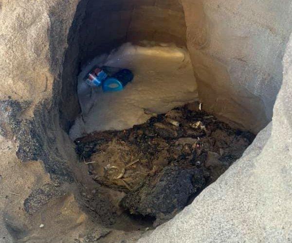 underpass hole
