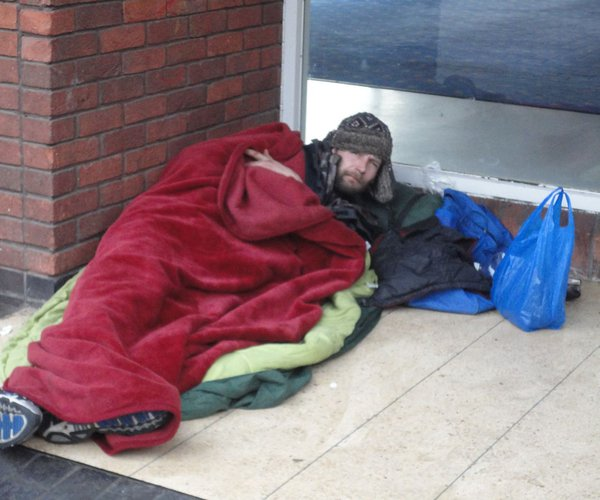 homeless sleep