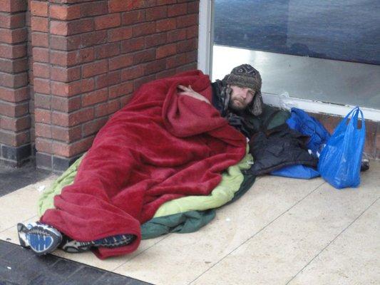 homeless sleep